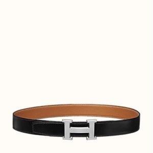 Hermès Reversible black/tan belt